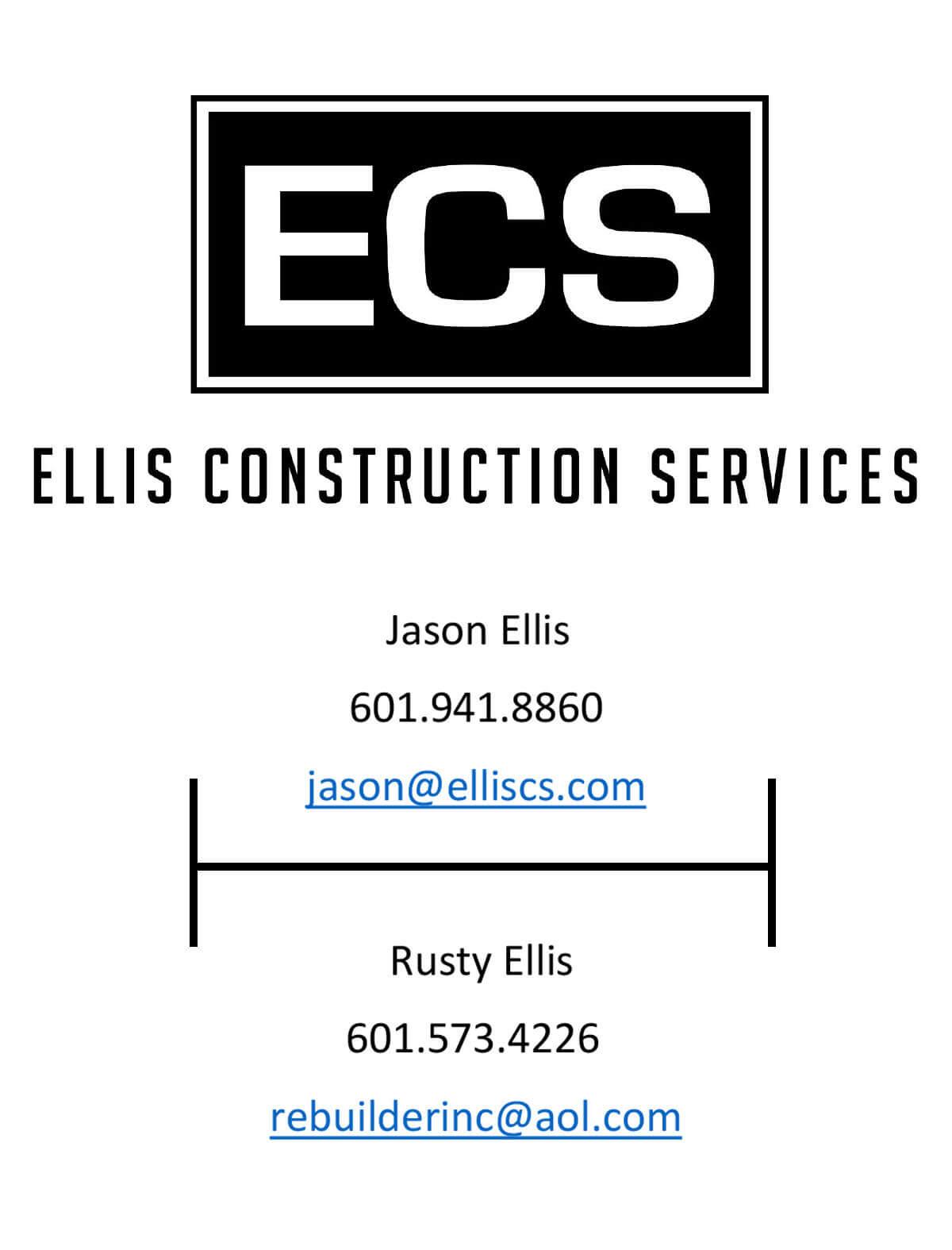 Ellis Construction Services ad